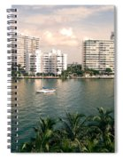 Sailboat In Miami Beach Florida Spiral Notebook