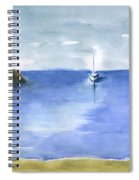 Sailboat In Still Waters Spiral Notebook