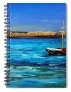 Sailboat Off Karpathos Greece Greek Islands Sailing Spiral Notebook