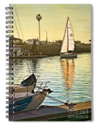 Sailboat On Arrival Spiral Notebook