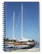 Sailboat Summer Vacation Scene Spiral Notebook