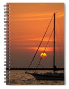 Sailboat Sunrise Chicago Spiral Notebook