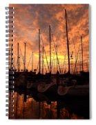 Sailboat Sunset Spiral Notebook