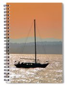 Sailboat With Bike Spiral Notebook