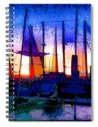 Sailboats At Rest Spiral Notebook