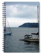 Sailboats In Bar Harbor Spiral Notebook