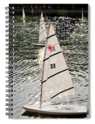 Sailboats In Central Park Spiral Notebook