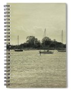 Sailboats In Gloucester Harbor Spiral Notebook