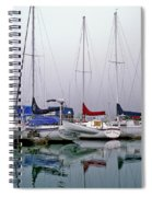 Sailboats In The Fog Spiral Notebook