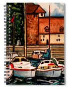 Sailboats In The Harbor Spiral Notebook