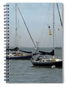 Sailboats In The Inlet Spiral Notebook