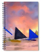 Sailboats On Boracay Island Spiral Notebook