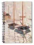 Sailboats On The Seine Spiral Notebook