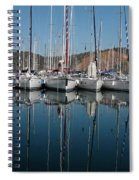 Sailboats Reflected Spiral Notebook