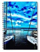 Sailboats Watching Weather Spiral Notebook