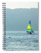 Sailing At La Playa Spiral Notebook
