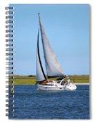 Sailing At Masonboro Island Spiral Notebook
