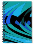 Sailing Blue - Left Spiral Notebook