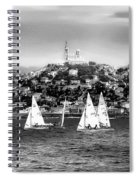 Sailing Boat  Black-and-white Spiral Notebook