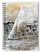 Sailing Boat, Nautical,yachts, Seascape Spiral Notebook