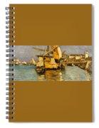 Sailing Boat On The Canale Della Giudecca Spiral Notebook