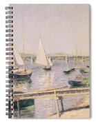 Sailing Boats At Argenteuil Spiral Notebook