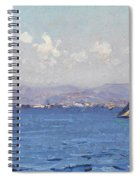 Sailing Boats In  Landscape Spiral Notebook