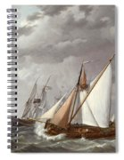 Sailing Boats On A Choppy Sea Spiral Notebook
