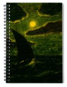 Sailing By Moonlight Spiral Notebook