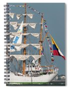 Sailing By The Battery Spiral Notebook