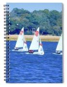 Sailing Charleston Harbor Spiral Notebook