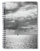 Sailing Dreams Black And White Spiral Notebook
