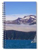 Sailing In Alaska Spiral Notebook