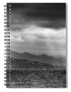 Sailing In Black And White Spiral Notebook