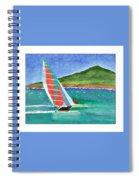 Sailing In Hawaii Spiral Notebook