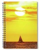 Sailing In Hawaiian Sunshine Spiral Notebook