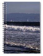 Sailing In Santa Monica Spiral Notebook