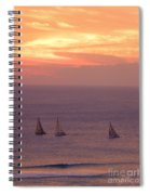 Sailing In The Golden Glow Spiral Notebook