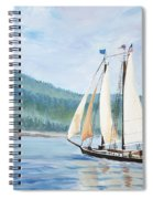Sailing Into Castine Harbor Spiral Notebook