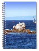 Sailing Monterey Bay Spiral Notebook