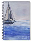Sailing Off Cape May Point Spiral Notebook