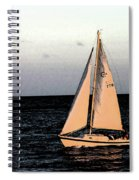 Sailing Off Of Diamond Head Spiral Notebook