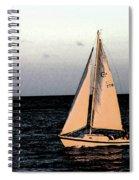 Sailing Off Of Diamond Head Spiral Notebook