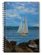 Sailing On A Summer Day Spiral Notebook