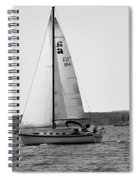 Sailing On Lake Murray S C Black And White Spiral Notebook