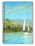 Sailing Out To Sea Spiral Notebook