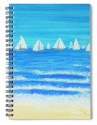 Sailing Regatta White Spiral Notebook
