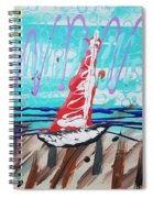 Sailing The Coast Abstract Spiral Notebook