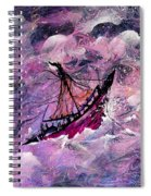 Sailing The Heavens Spiral Notebook