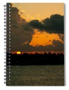 Sailing The Keys At Sunset Spiral Notebook